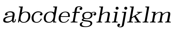 Superclarendon Light Italic Font LOWERCASE