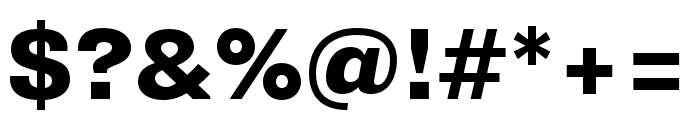 Supria Sans Cond Heavy Font OTHER CHARS