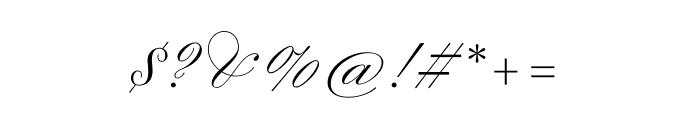 Sweet Fancy Script Light Font OTHER CHARS