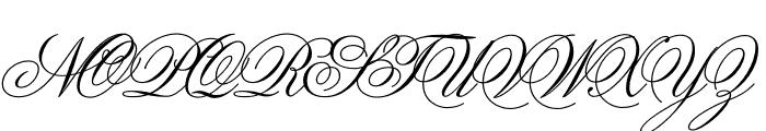 Sweet Fancy Script Regular Font UPPERCASE