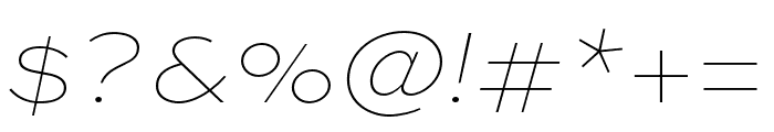 Sweet Sans Pro Extra Thin Italic Font OTHER CHARS