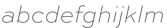 Sweet Sans Pro Extra Thin Italic Font LOWERCASE