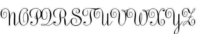 Sweet Upright Script Regular Font UPPERCASE