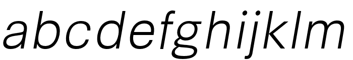 Synthese Light Oblique Font LOWERCASE