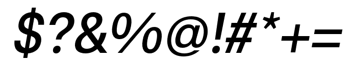 Synthese Oblique Font OTHER CHARS