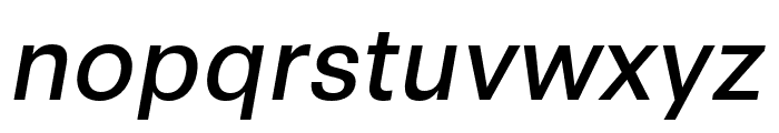 Synthese Oblique Font LOWERCASE