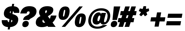 Synthese Ultra Oblique Font OTHER CHARS