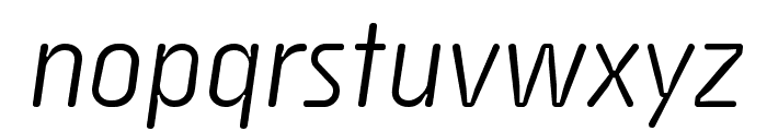 Sys TT Italic Font LOWERCASE
