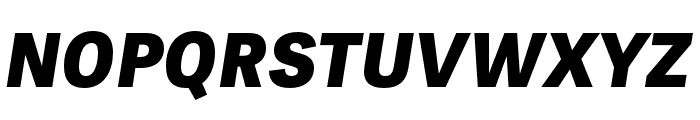 Tablet Gothic Compressed ExtraBold Oblique Font UPPERCASE