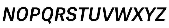 Tablet Gothic Compressed SemiBold Oblique Font UPPERCASE