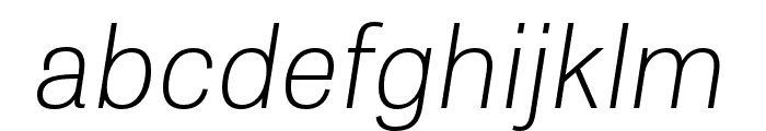Tablet Gothic Condensed Thin Oblique Font LOWERCASE