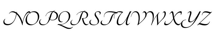 Tangerine Bold Font UPPERCASE