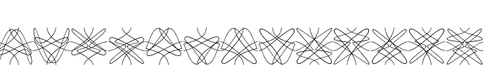 Tangly Lines Mirrored Font LOWERCASE