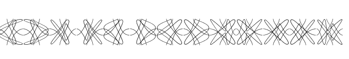 Tangly Lines Symmetric Font UPPERCASE