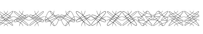 Tangly Lines Symmetric Font LOWERCASE