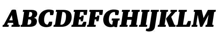 Tasman Black Italic Font UPPERCASE