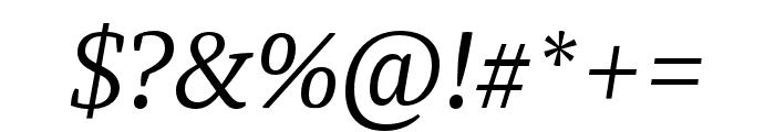 Tasman Light Italic Font OTHER CHARS