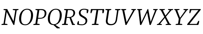 Tasman Light Italic Font UPPERCASE