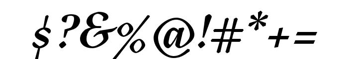 Tejuela Bold Italic Font OTHER CHARS