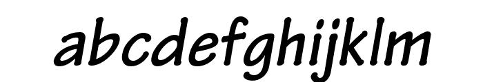Tekton Pro Bold Condensed Oblique Font LOWERCASE