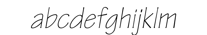 Tekton Pro Light Condensed Oblique Font LOWERCASE