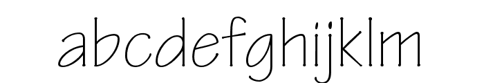 Tekton Pro Light Condensed Font LOWERCASE