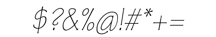 Tekton Pro Light Extended Oblique Font OTHER CHARS