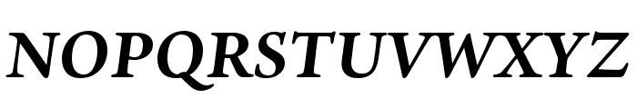 Ten Oldstyle Bold Italic Font UPPERCASE