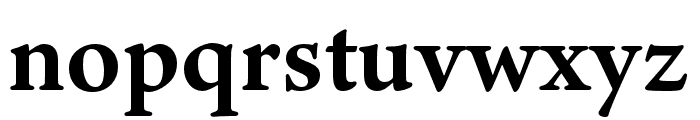 Ten Oldstyle Bold Font LOWERCASE