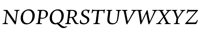 Ten Oldstyle Medium Italic Font UPPERCASE