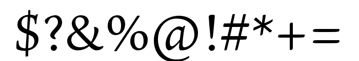 Ten Oldstyle Regular Font OTHER CHARS