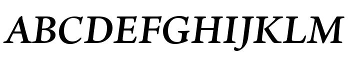 Ten Oldstyle Semibold Italic Font UPPERCASE