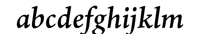 Ten Oldstyle Semibold Italic Font LOWERCASE