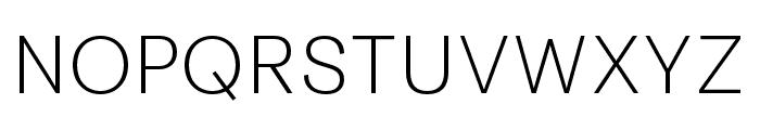 Tenon X Light Font UPPERCASE