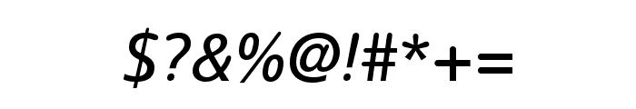 Termtem Italic Font OTHER CHARS