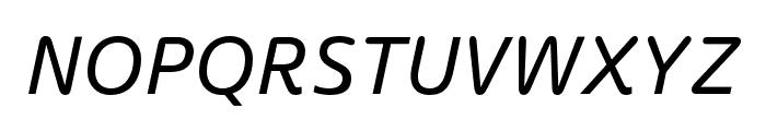 Termtem Italic Font UPPERCASE