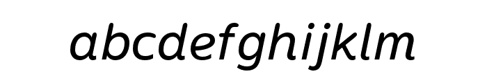 Termtem Italic Font LOWERCASE