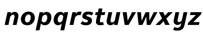 Textbook New Bold Italic Font LOWERCASE