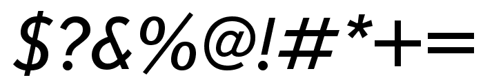 Textbook New Italic Font OTHER CHARS