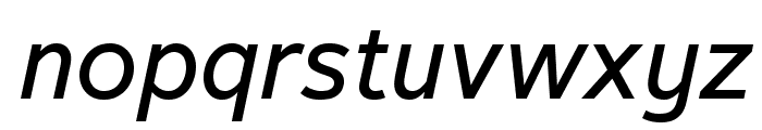 Textbook New Italic Font LOWERCASE