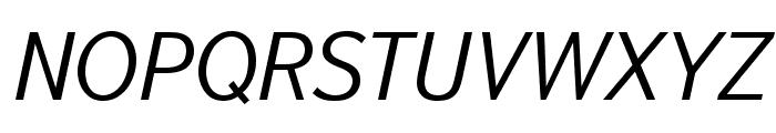 Textbook New Light Italic Font UPPERCASE