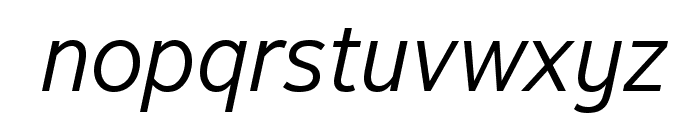 Textbook New Light Italic Font LOWERCASE