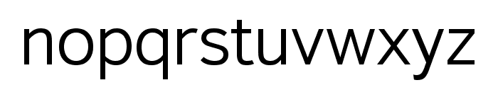 Textbook New Light Font LOWERCASE