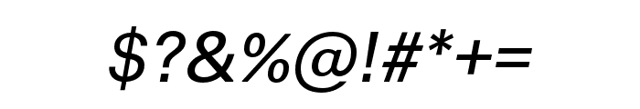 Thonglor Italic Font OTHER CHARS