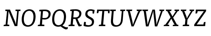 Tisa Pro Regular Italic Font UPPERCASE