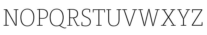 Tisa Pro Thin Font UPPERCASE