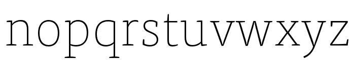 Tisa Pro Thin Font LOWERCASE