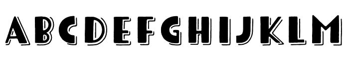 Tomarik Display Line Font UPPERCASE