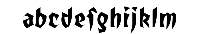 TotallyGothic OT WideCaps Font LOWERCASE