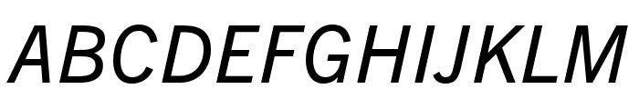 Trade Gothic Next LT Pro Condensed Italic Font UPPERCASE